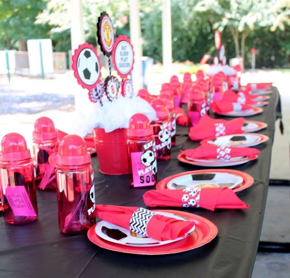 10 Most Popular 15Th Birthday Party Ideas For Girls manchester united soccer party birthday party ideas soccer 2020