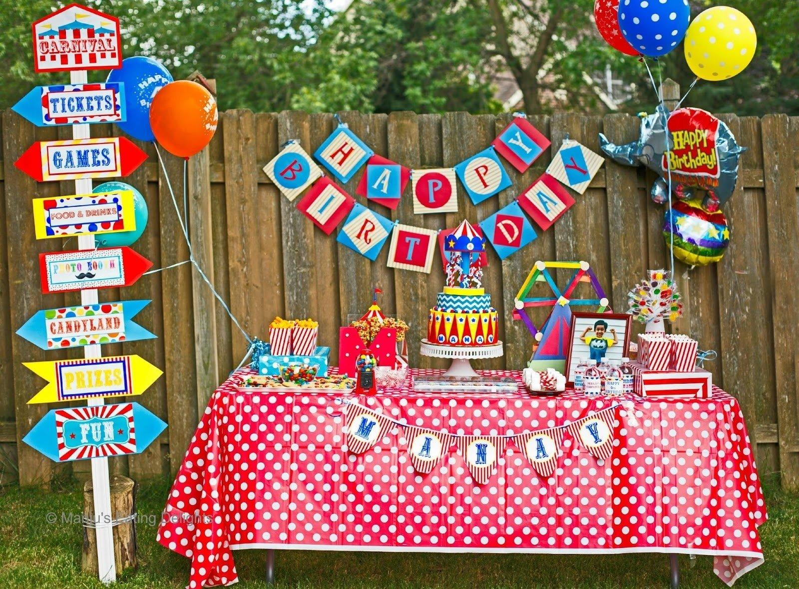 10 Fashionable Carnival Themed Birthday Party Ideas manjus eating delights carnival themed birthday manav turns 4 2021