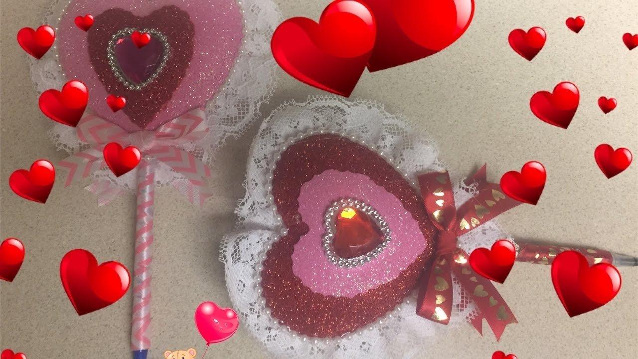 10 Pretty Ideas Para El Dia De San Valentin manualidades para el dia de san valentin boligrafo corazon youtube 2021