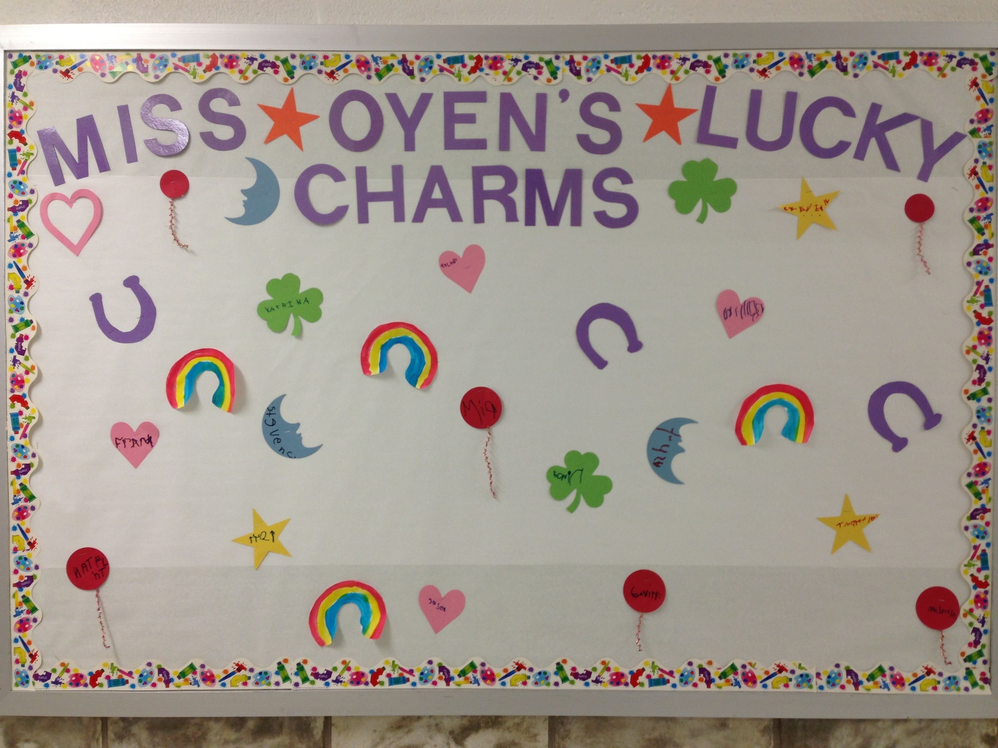 10 Awesome March Preschool Bulletin Board Ideas march bulletin board my lucky charms spring and easter preschool 2020