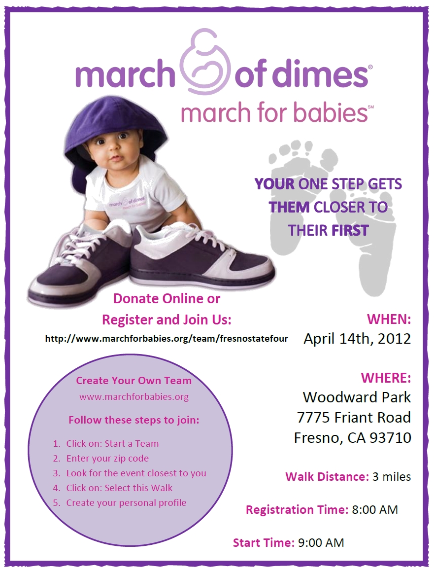 10 Lovable March Of Dimes Fundraising Ideas march of dimes march for babies your one step gets them closer to 1
