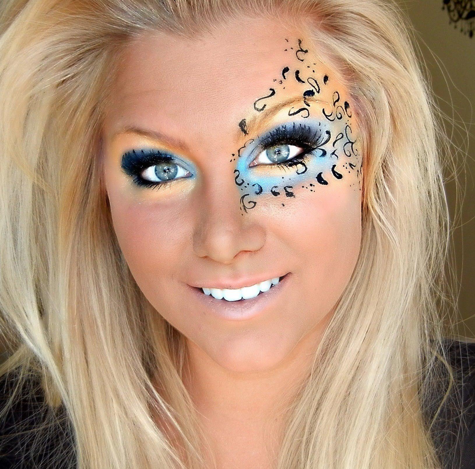 10 Wonderful Mardi Gras Face Painting Ideas mardi gras eye makeup face makeup ideas 2020