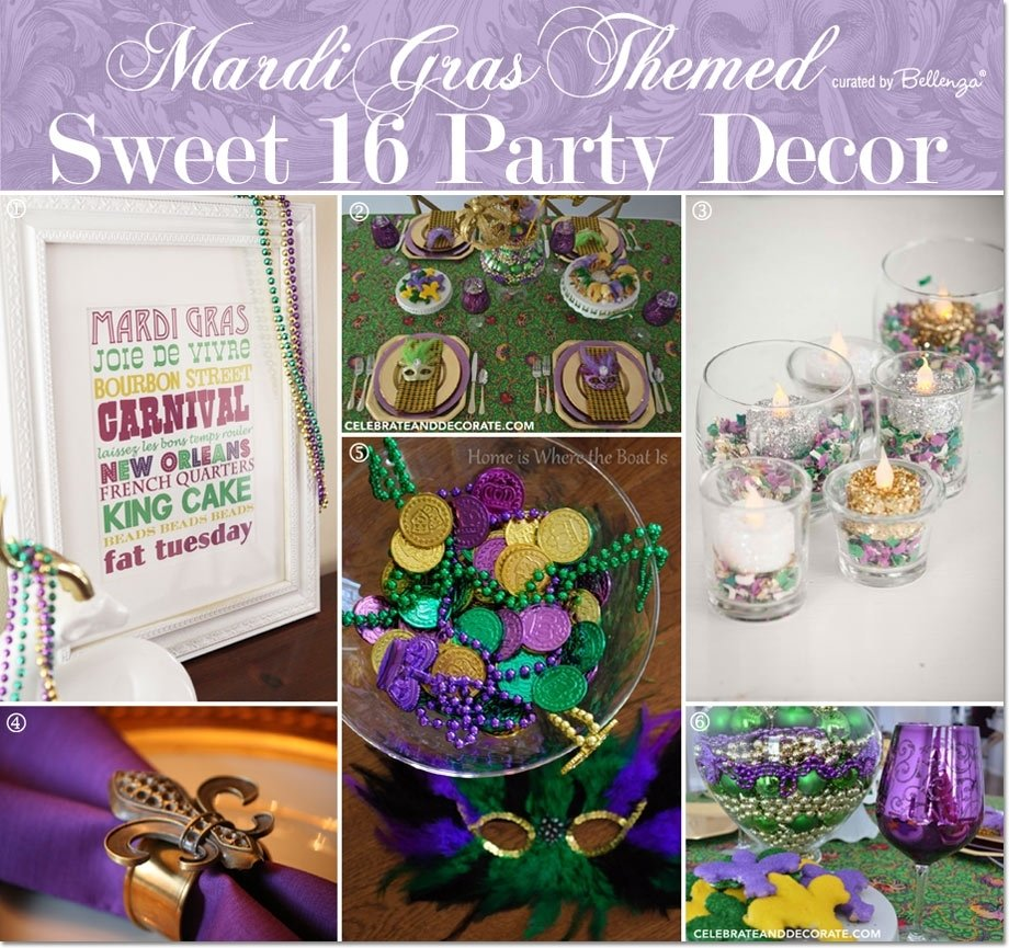10 Most Recommended Mardi Gras Ideas For A Party mardi gras themed sweet 16 party ideas 2020