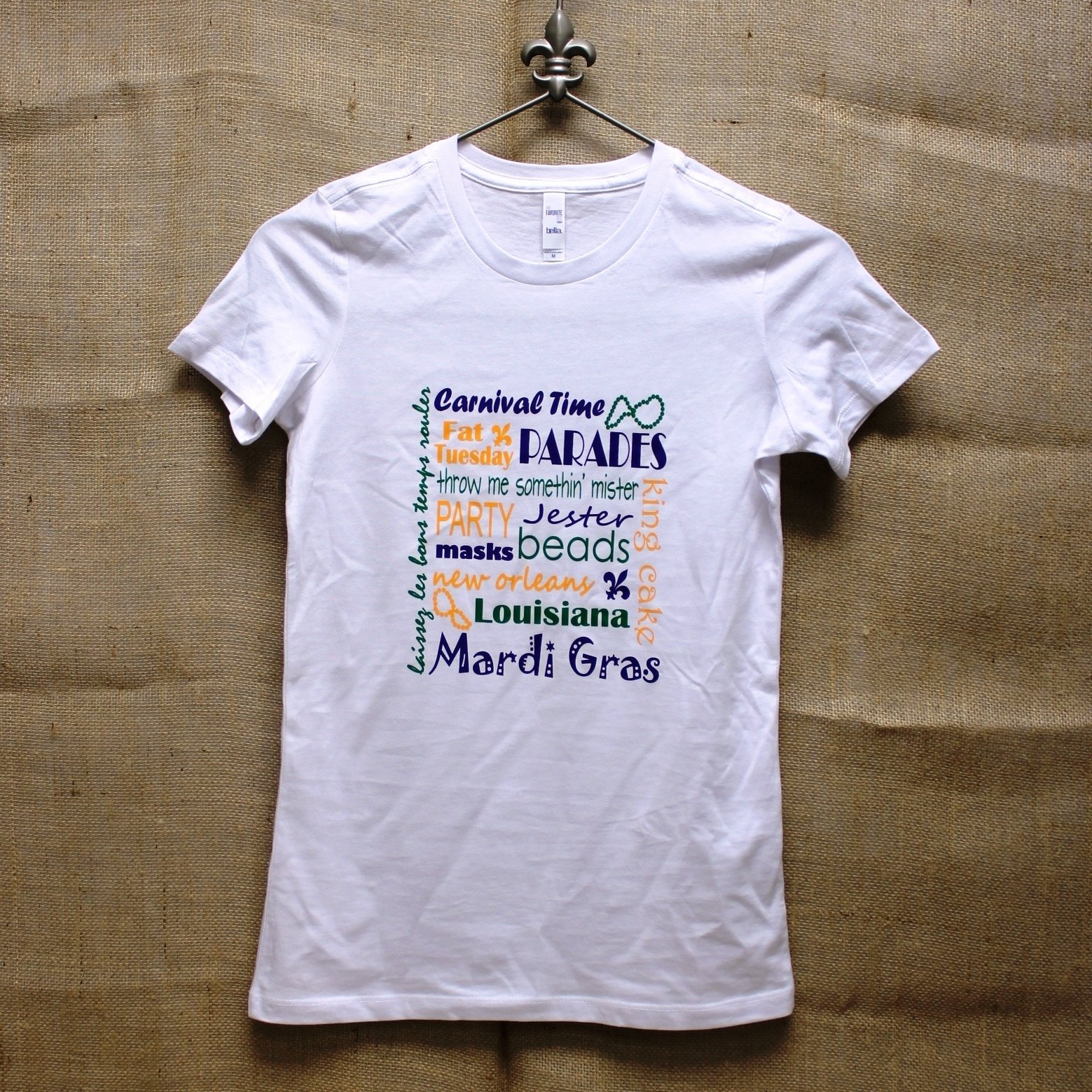 mardi gras time juniors t-shirt - monogram express