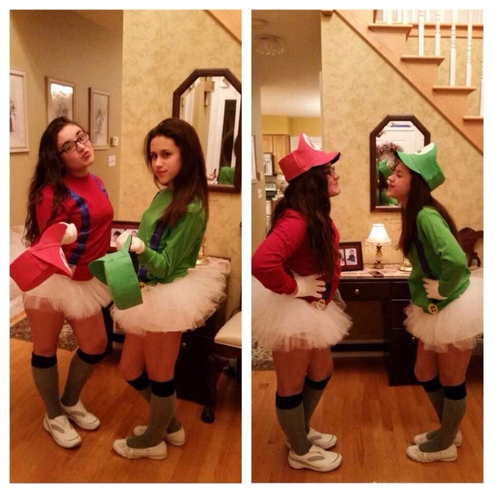 10 Lovable Halloween Costume Ideas For 2 People mario and luigi halloween costumes for two people teen bff 2020