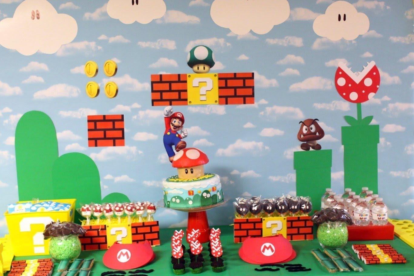 10 Stylish Super Mario Bros Birthday Party Ideas mario birthday party decorations and walk through abes world 3 2020