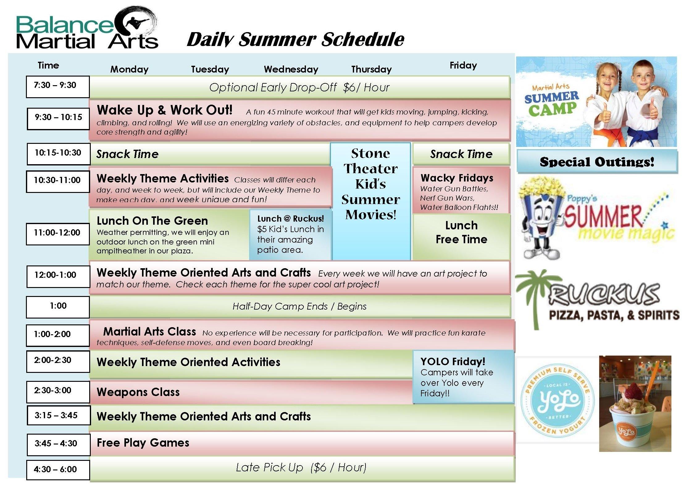 10 Great Summer Camp Theme Week Ideas martial arts summer camp 2018 balance martial arts 2020