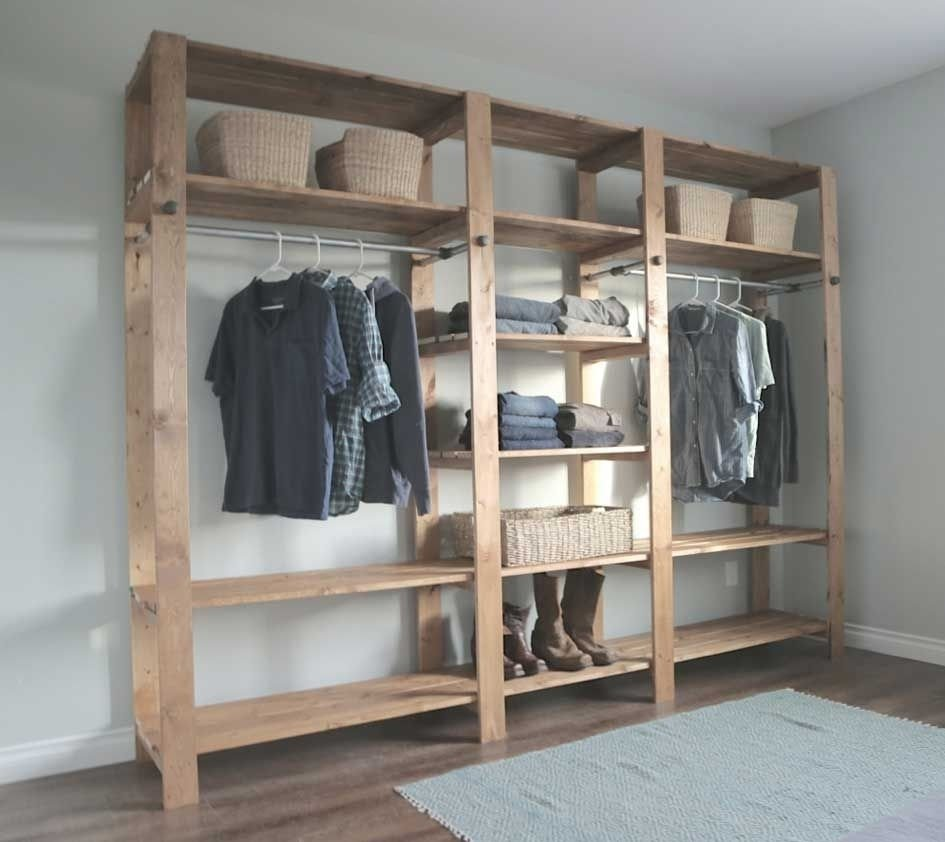 marvelous walk in closet ideas do it yourself with double hanging