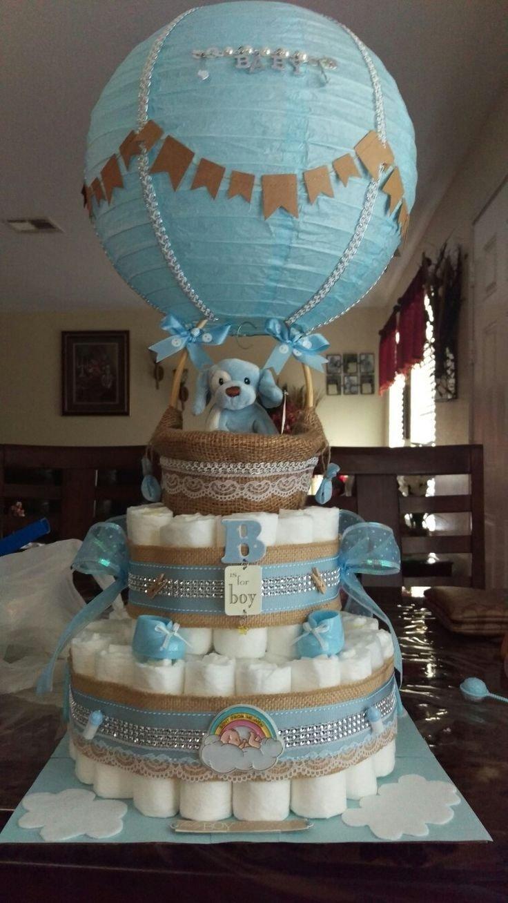 10 Pretty Diaper Ideas For Baby Shower mas recetas en https lomejordelaweb es baby shower boy hot air 2020