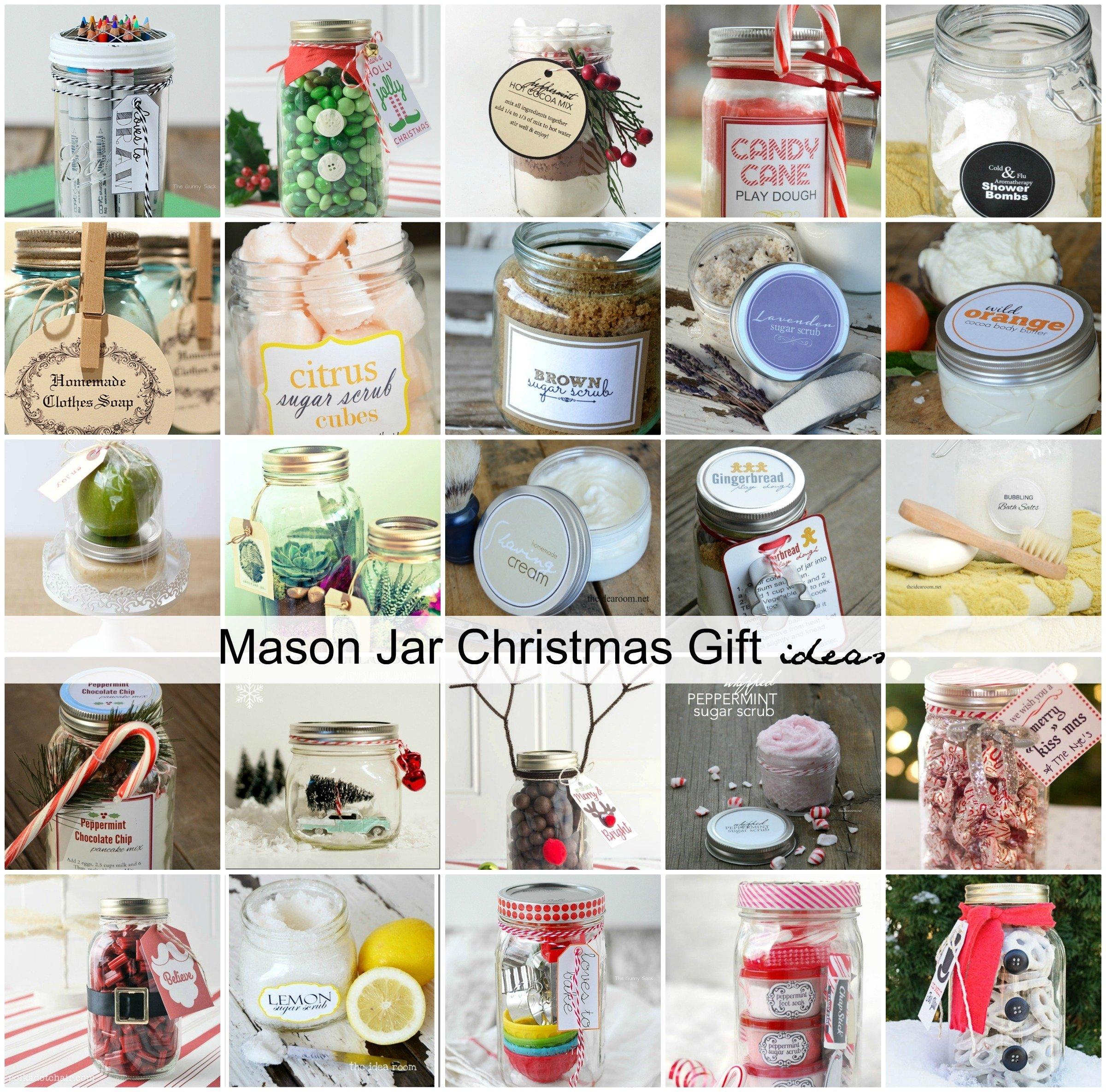 10 Cute Mason Jar Christmas Gift Ideas mason jar christmas gift ideas the idea room