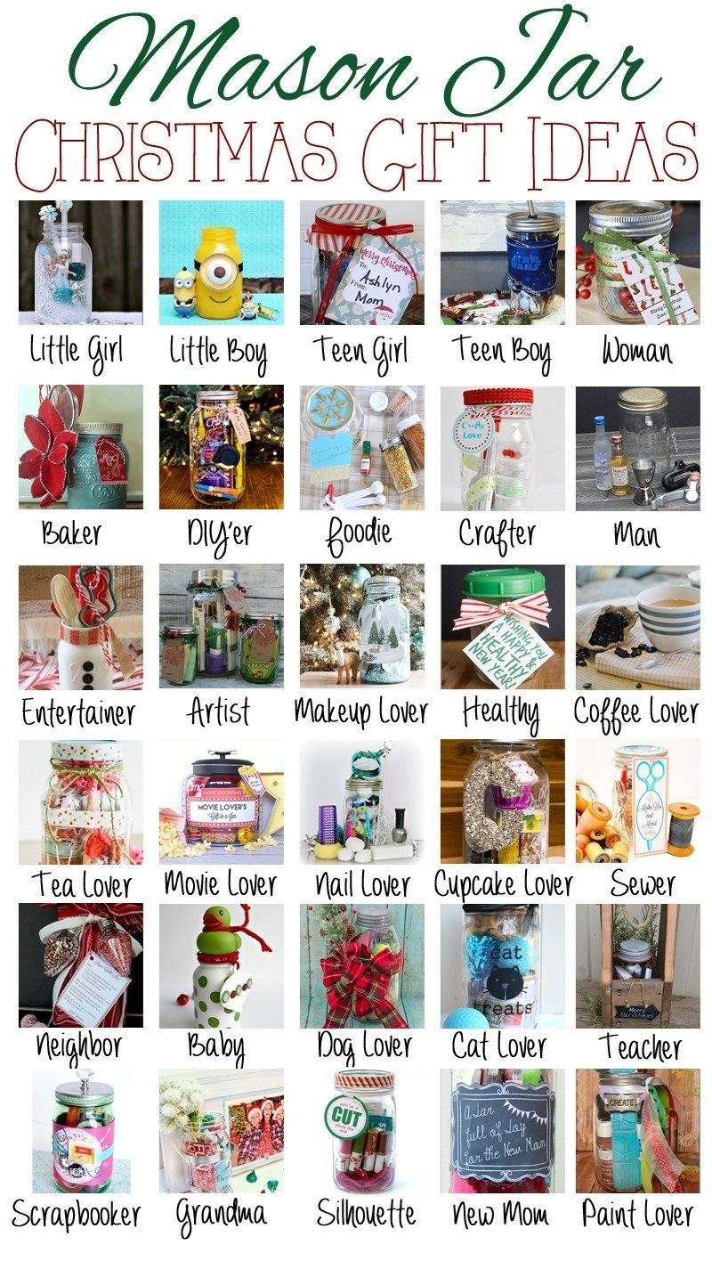 10 Cute Mason Jar Christmas Gift Ideas mason jar themed christmas gift ideas debbiedoos