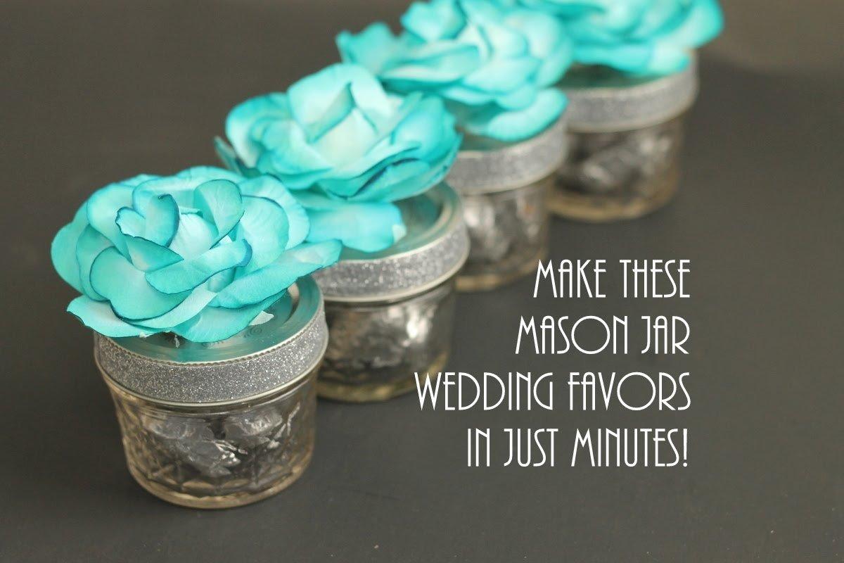 10 Most Popular Mason Jar Party Favor Ideas mason jar wedding favors with flowers youtube