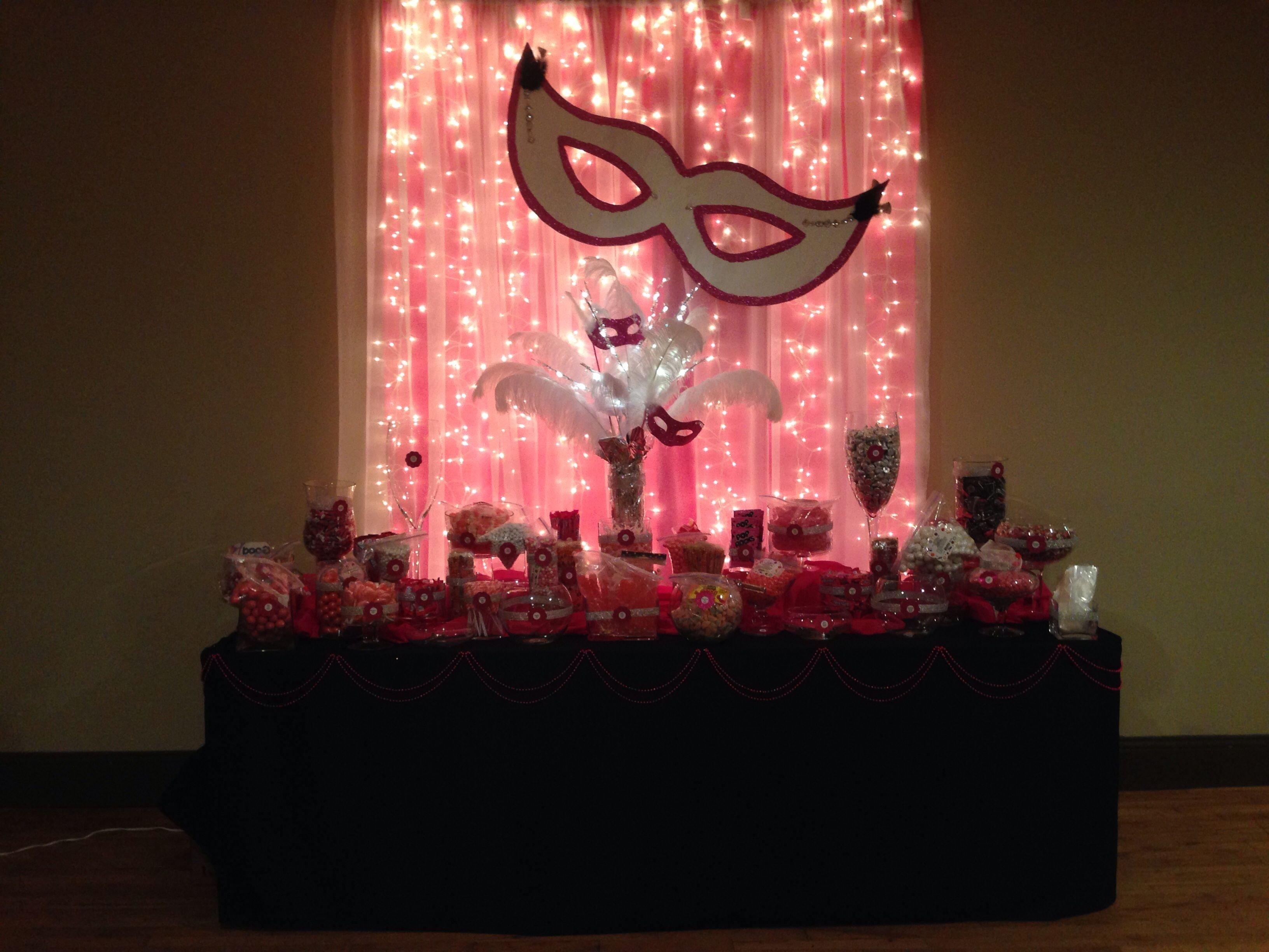 10 Elegant Masquerade Party Ideas Sweet 16 masquerade party candy table party ideas pinterest masquerade 2020