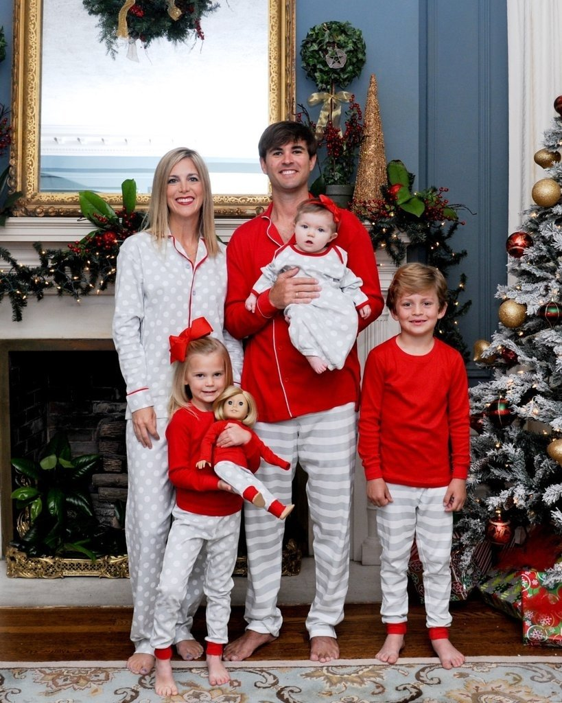 10 Most Popular Family Christmas Picture Outfit Ideas matching family christmas pajamas popsugar moms 2 2020