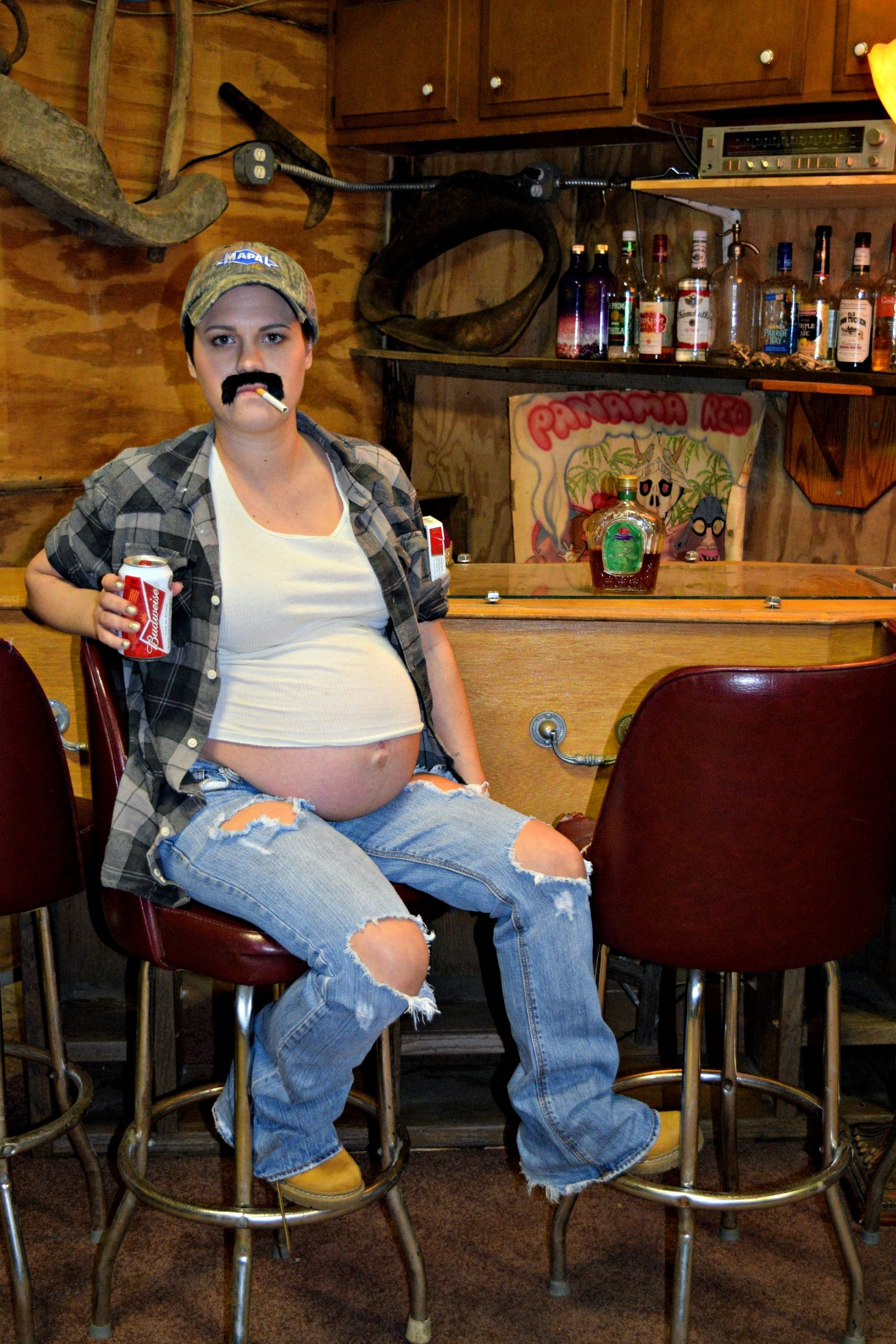 10 Fabulous Funny Pregnant Halloween Costume Ideas maternity halloween costume idea beer belly redneck pregnant 2020