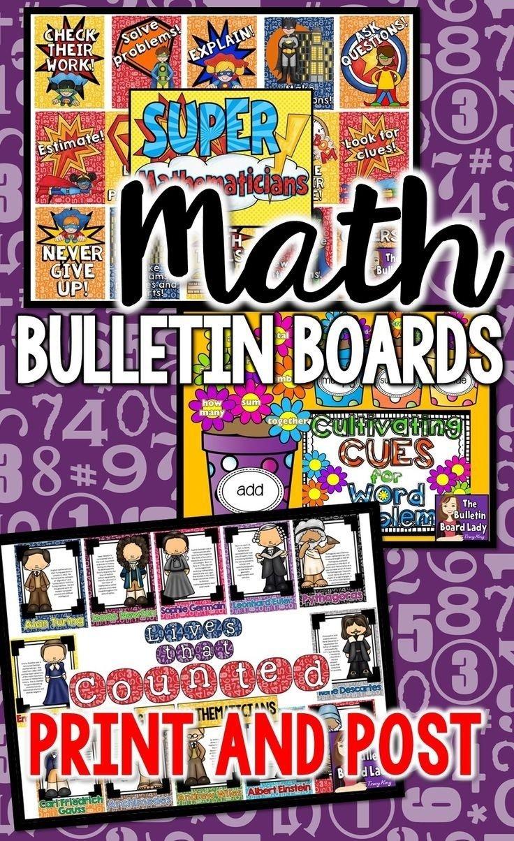 10 Attractive High School Math Bulletin Board Ideas math bulletin board ideas and print and post downloads these boards 2020