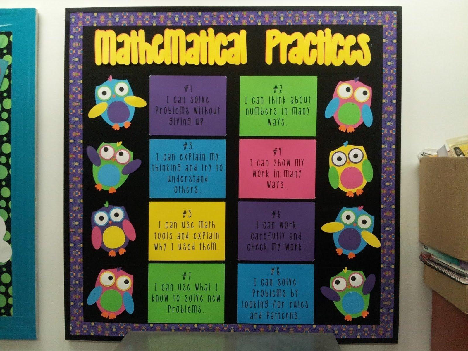 10 Stylish Common Core Bulletin Board Ideas mathtori standards for mathematical practices bulletin board 2020
