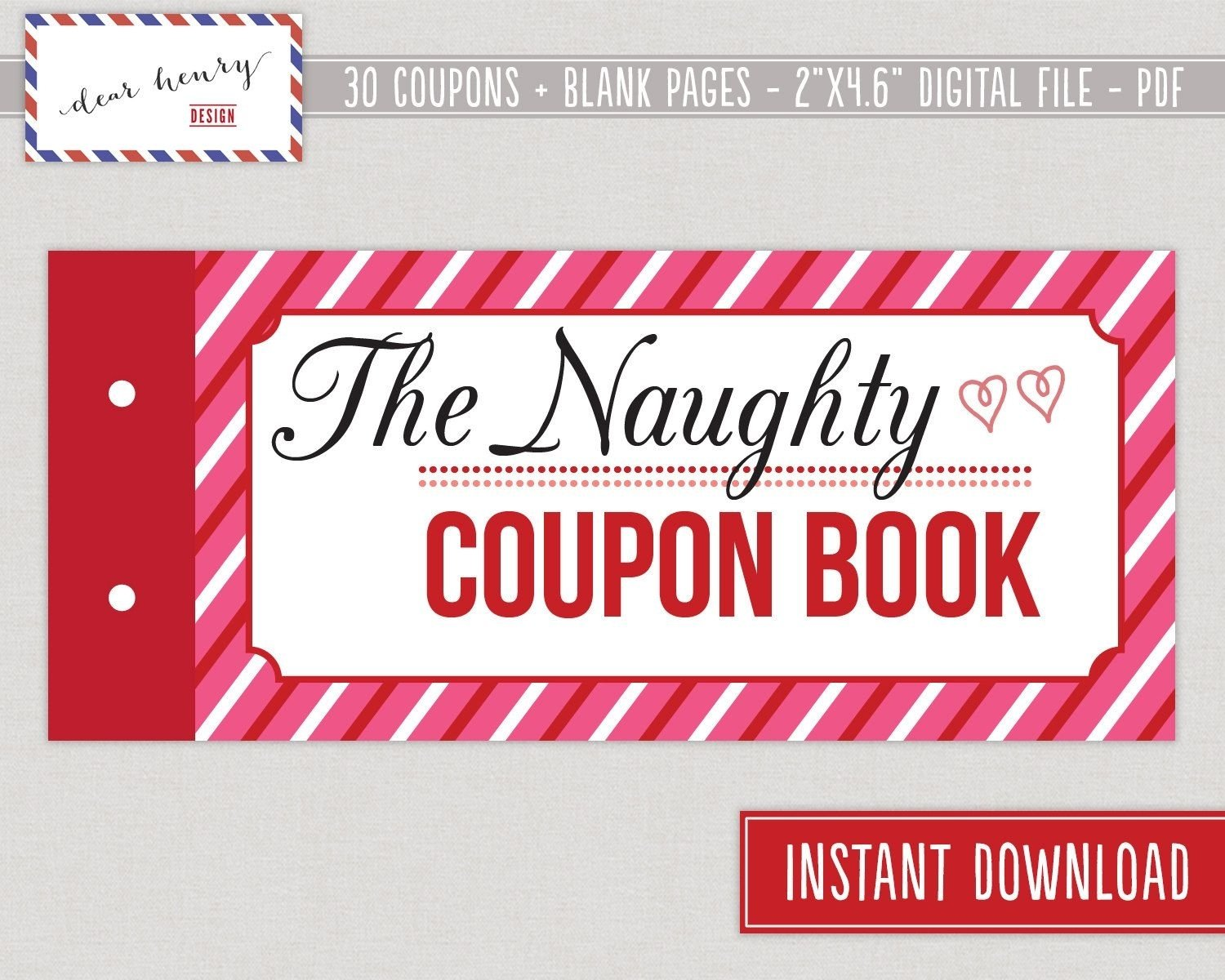 10 Wonderful Coupon Book Ideas For Girlfriend mature sexy printable valentines day coupondearhenrydesign 2021