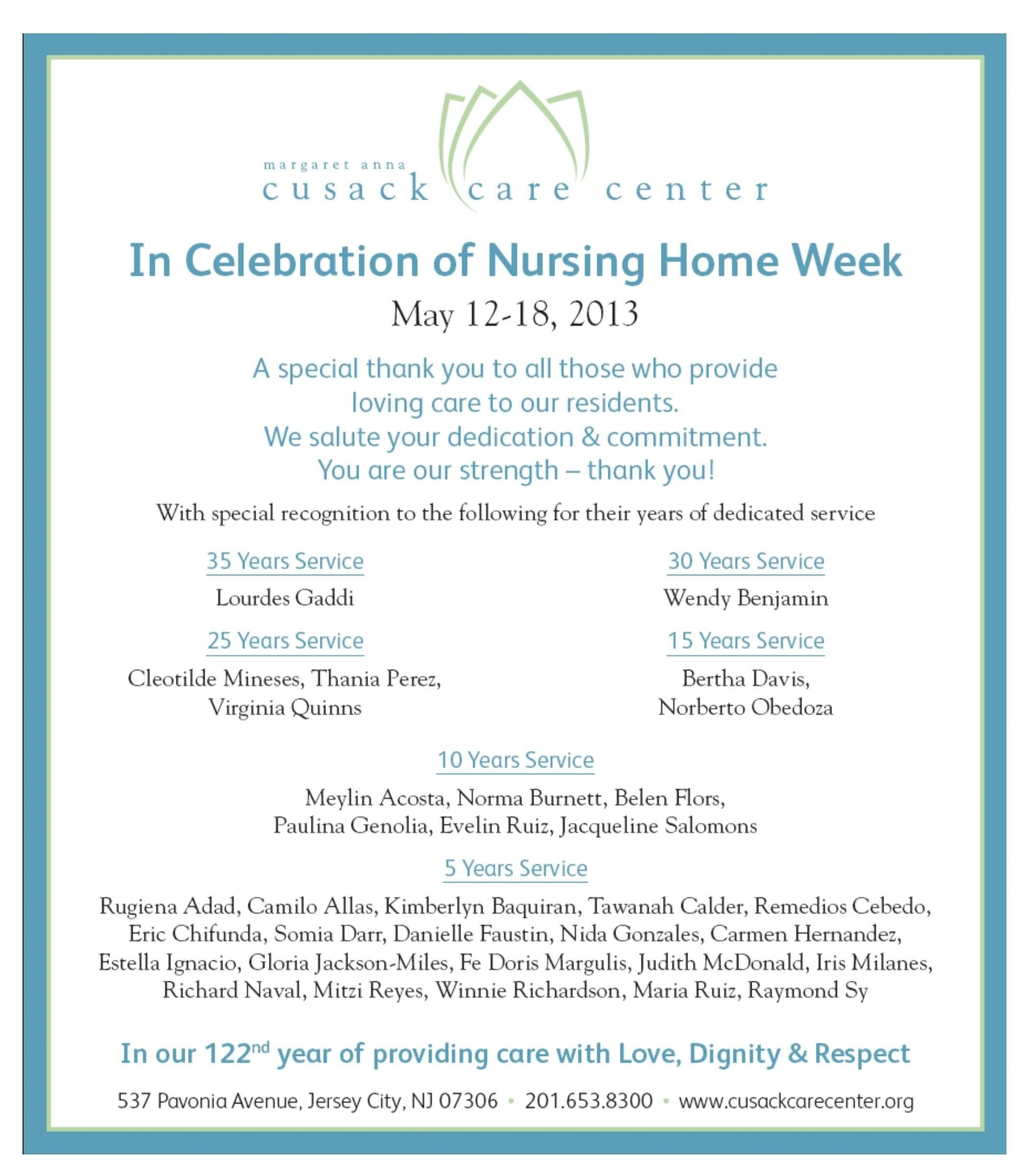 10 Beautiful National Nursing Home Week Ideas may 12 18 2013 its national nursing home week and were 2020