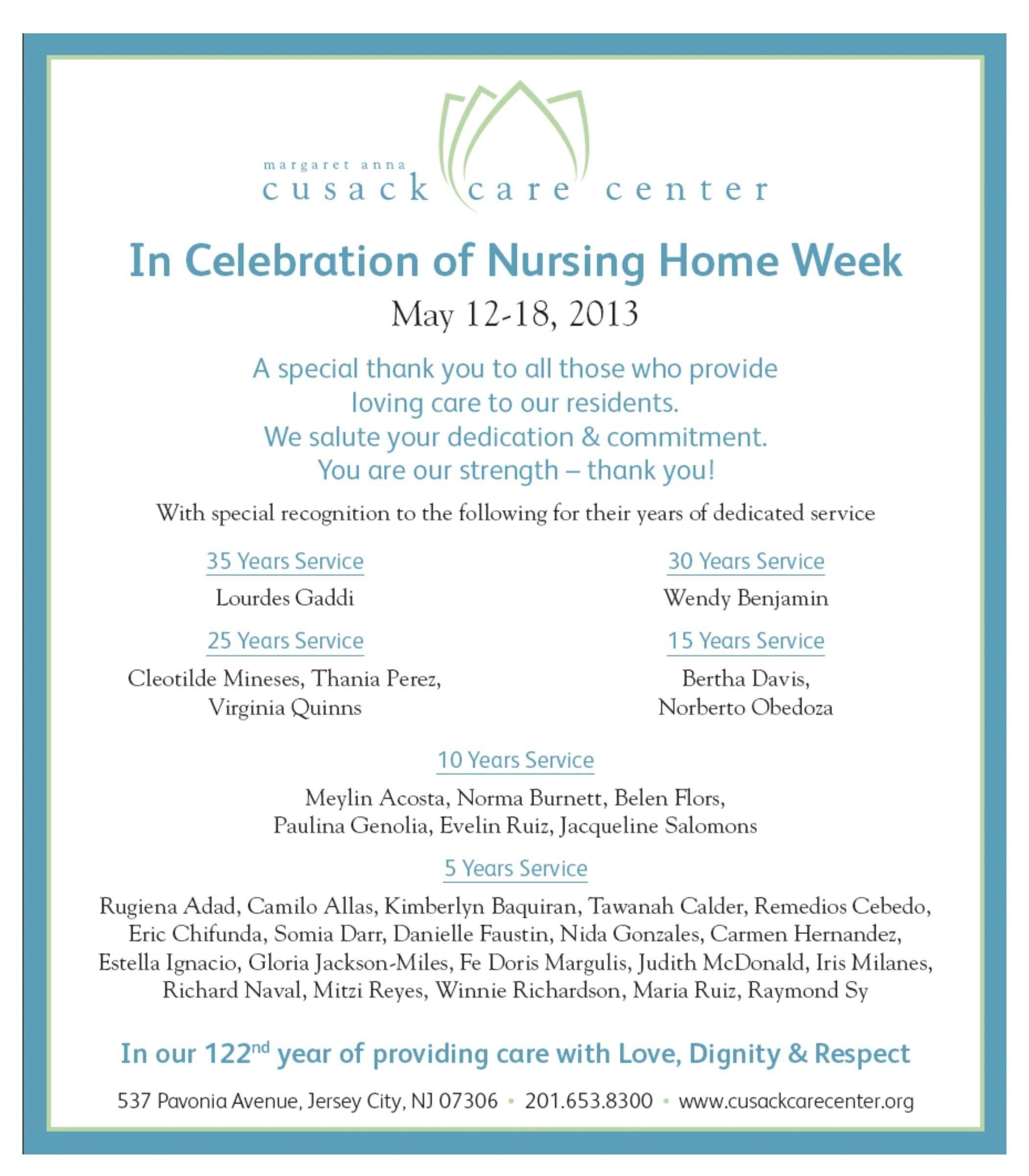 10 Beautiful National Nursing Home Week Ideas may 12 18 2013 its national nursing home week and were 2021
