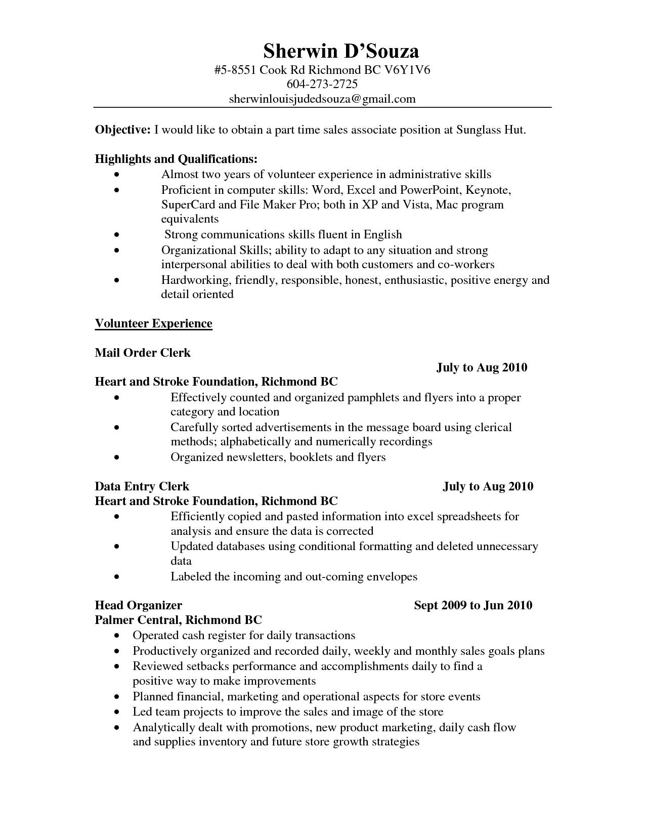 10 Trendy Ideas For Part Time Jobs mcdonalds cook job description resume best of brilliant ideas sample 2020