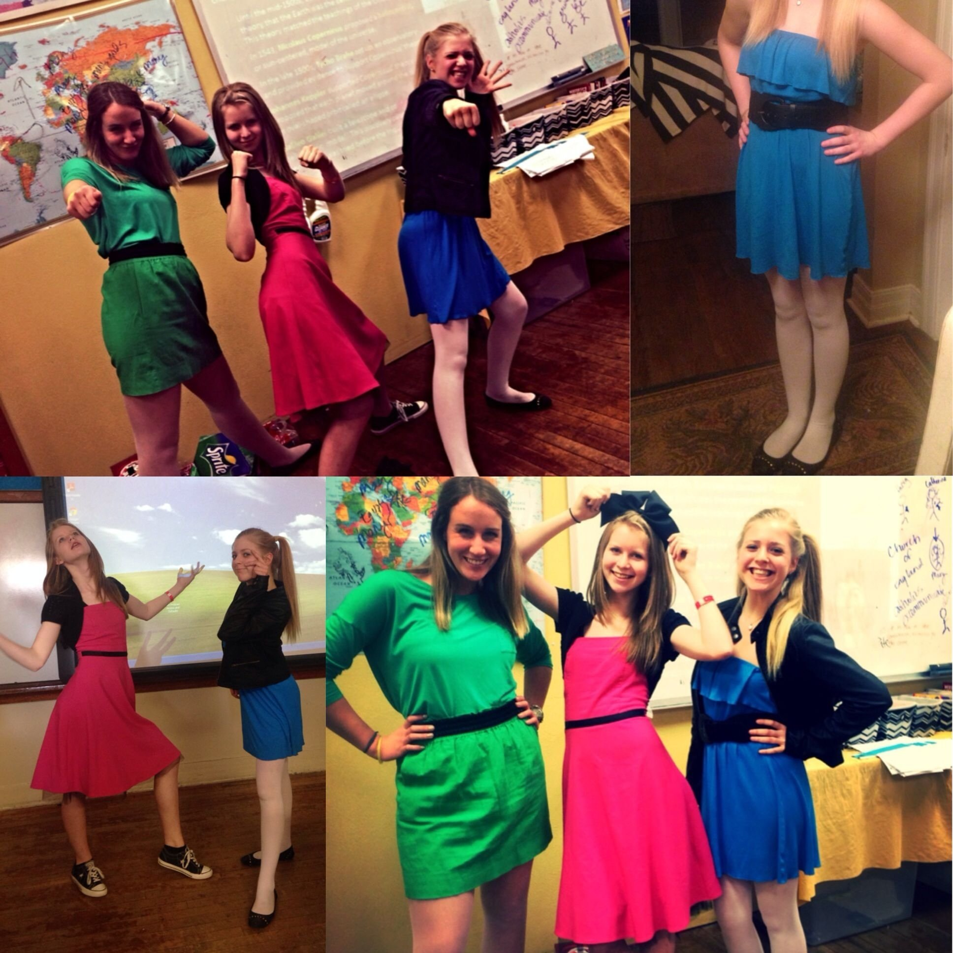 10 Wonderful Twin Day Ideas For Girls me my friend and my teacher were the powerpuff girls for twin day 2021