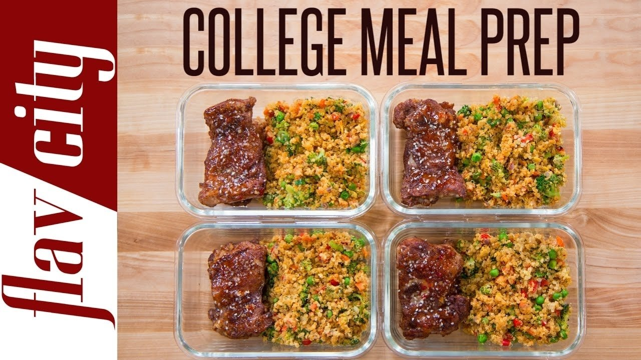 10 Lovable Meal Ideas For College Students meal prep for a college student meal prepping youtube 2020