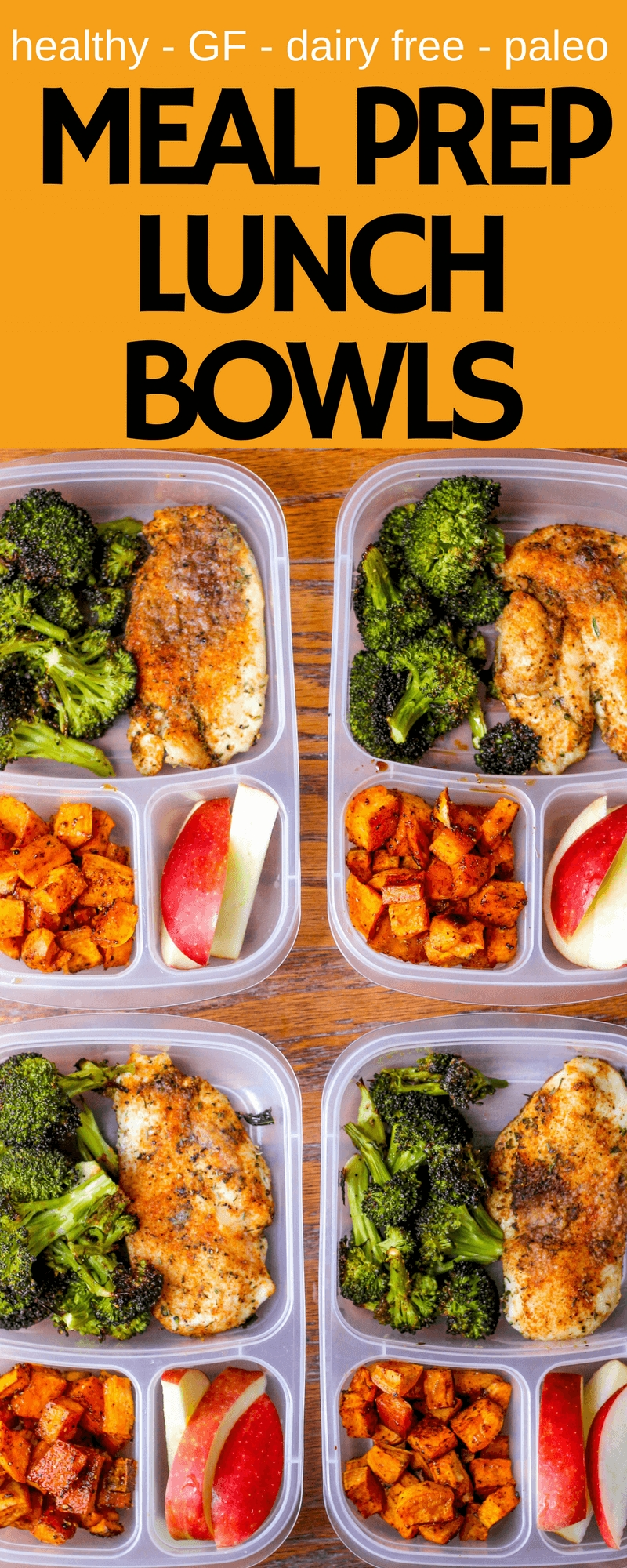 10 Lovable Paleo Lunch Ideas For Work meal prep lunch bowls with spicy chicken roasted lemon broccoli 1 2020