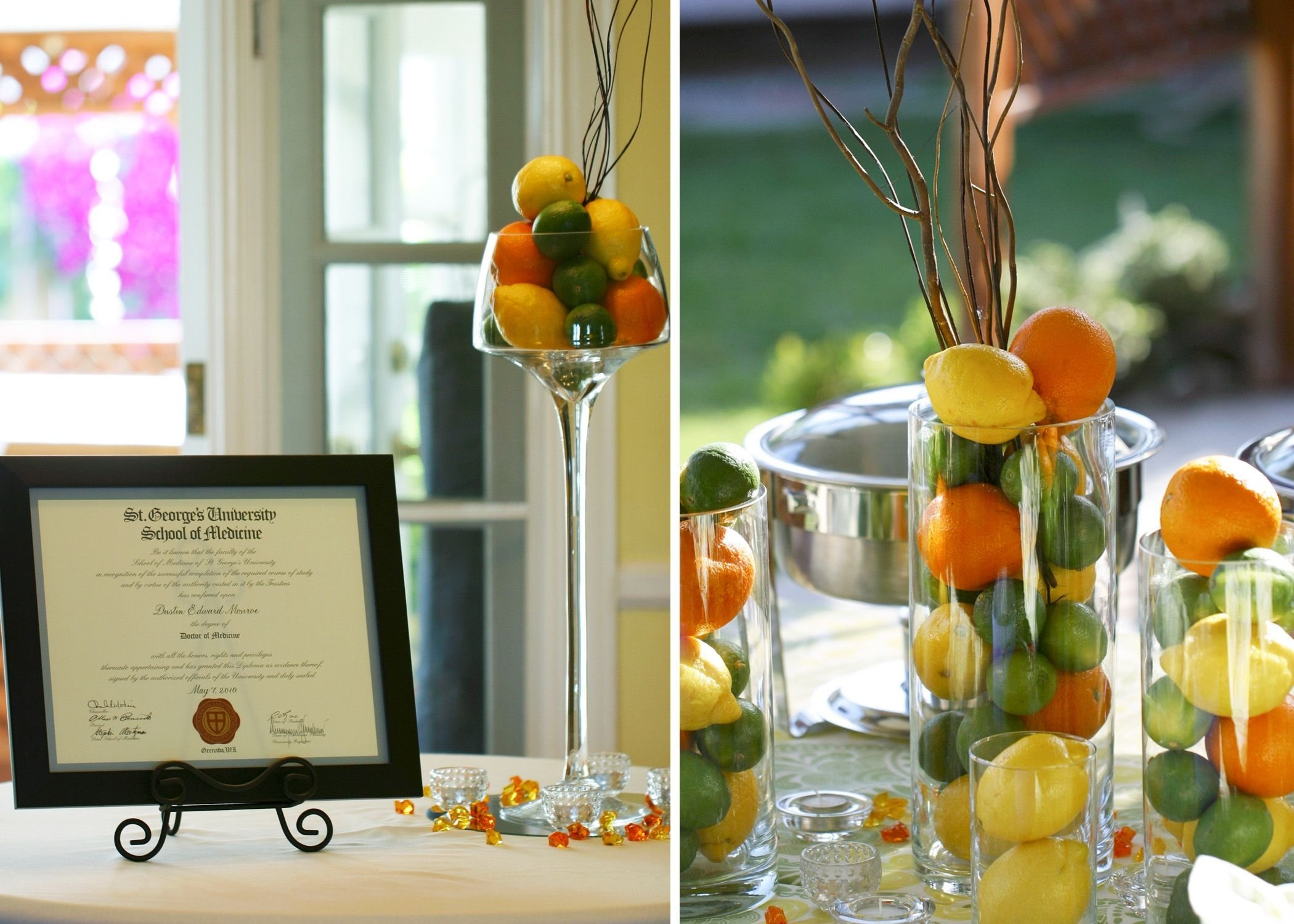 10 Cute Medical School Graduation Party Ideas medical school graduation party citrus inspired garden party 2020