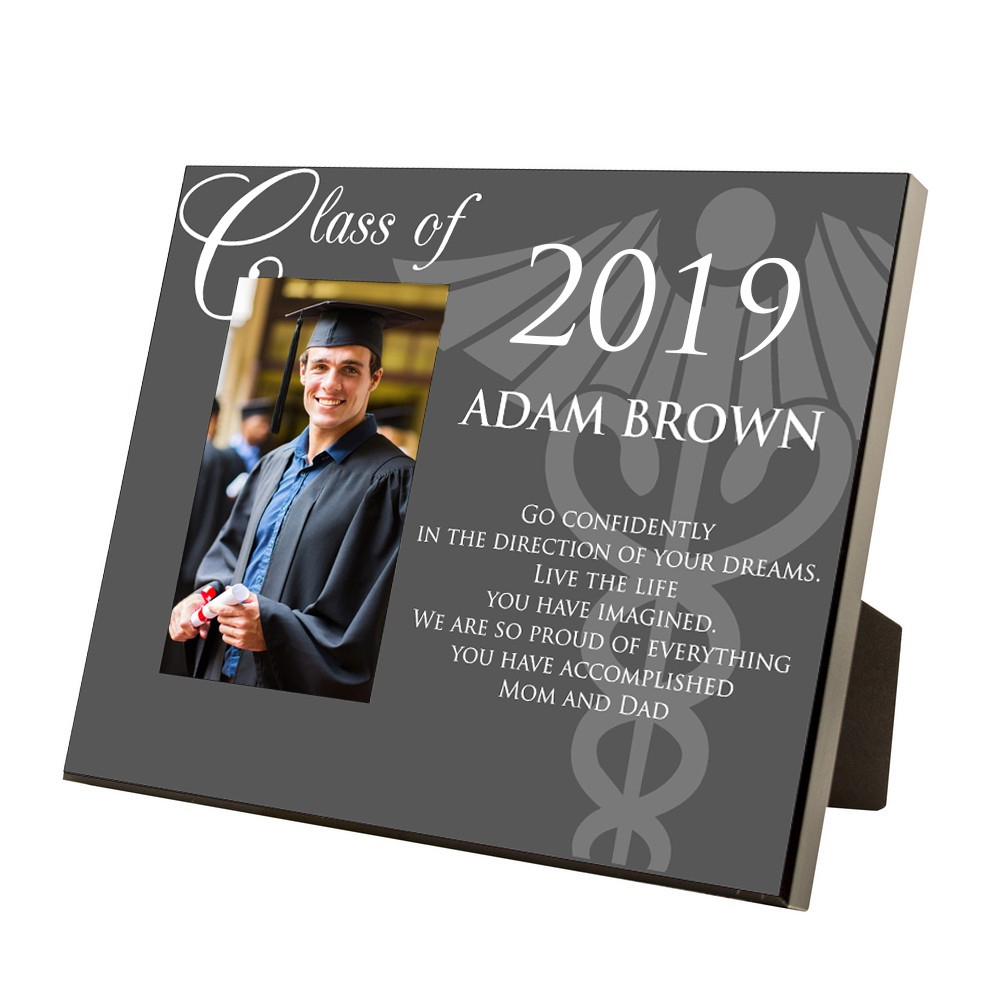 10 Stylish Med School Graduation Gift Ideas medical school graduation personalized 4x6 picture frame with 2020
