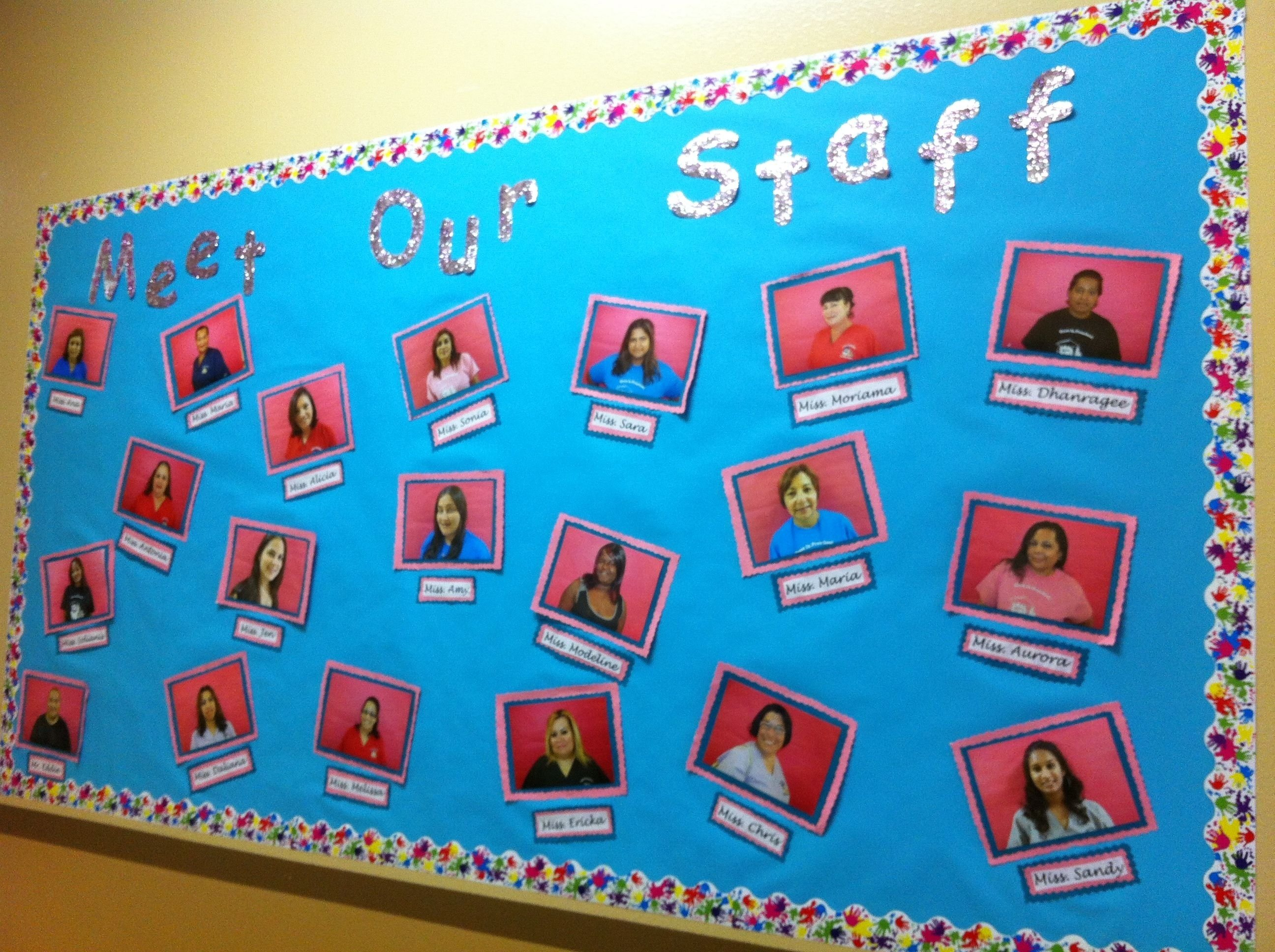 10 Stylish Bulletin Board Ideas For Work meet our staff bulletin board education pinterest staff 1 2020