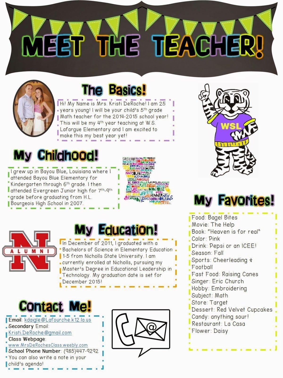 meet the teacher, open house- newsletter! | school ideas | pinterest