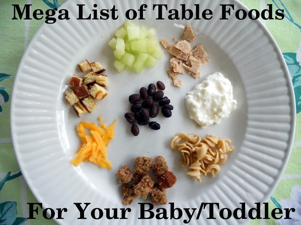 10 Elegant Meal Ideas For 10 Month Old mega list of table foods for your baby or toddler your kids table 1