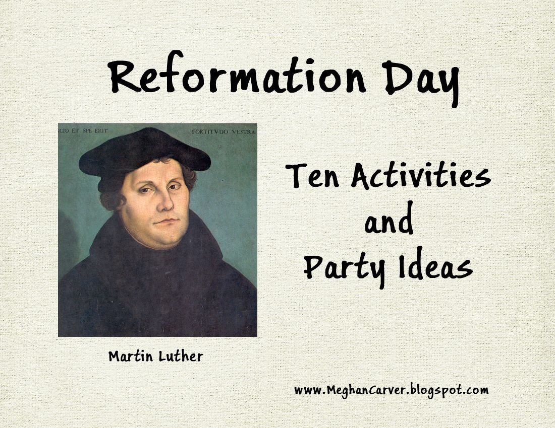 10 Best Identify Five Ideas Taught By John Calvin meghan carver reformation day ten activities and party ideas 2021