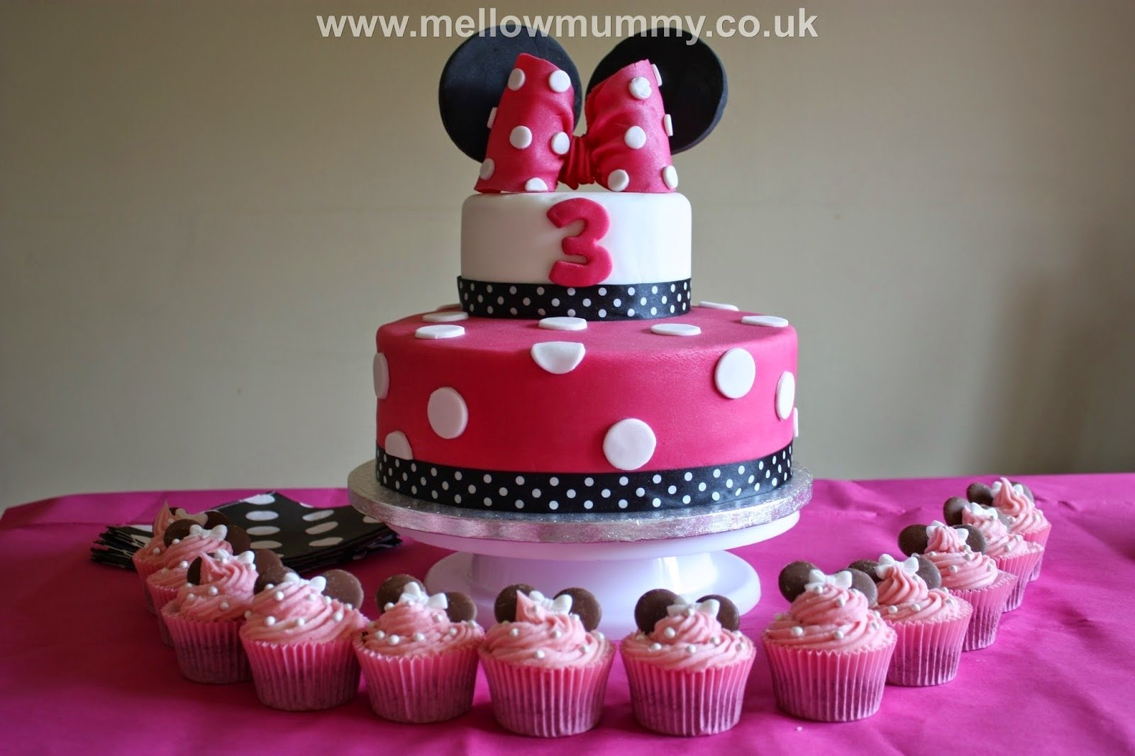 10 Ideal Minnie Mouse Party Ideas Pinterest mellow mummy the one with the spotty minnie mouse birthday cake 1