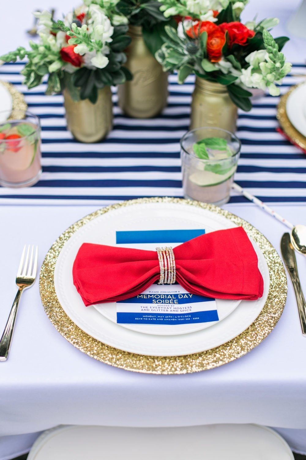 10 Beautiful Red White And Blue Party Ideas memorial day party ideas mdw table red white and blue memorial day 2020