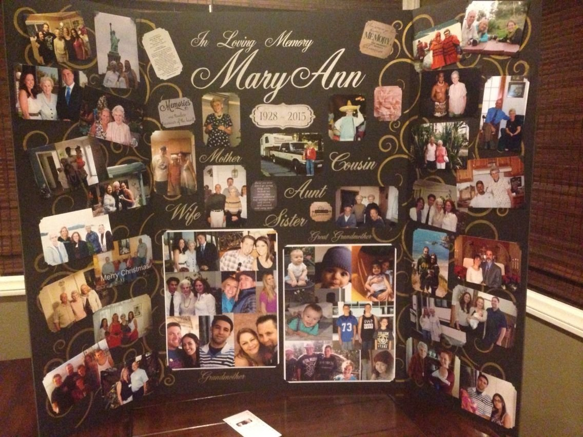 10 Most Popular Ideas For A Memorial Service memory board made for great grammas funeral service memorial 2021