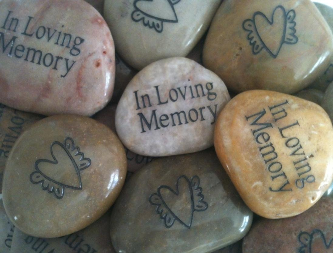 10 Most Popular Ideas For A Memorial Service memory stones for funeral memorial favor gift for life celebration 2021