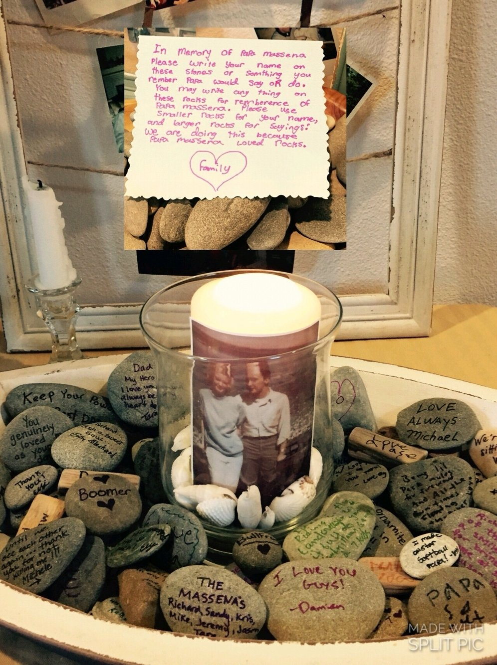 10 Most Popular Ideas For A Memorial Service memory stones guest book stones funeral evalyn wrote a note to 2021