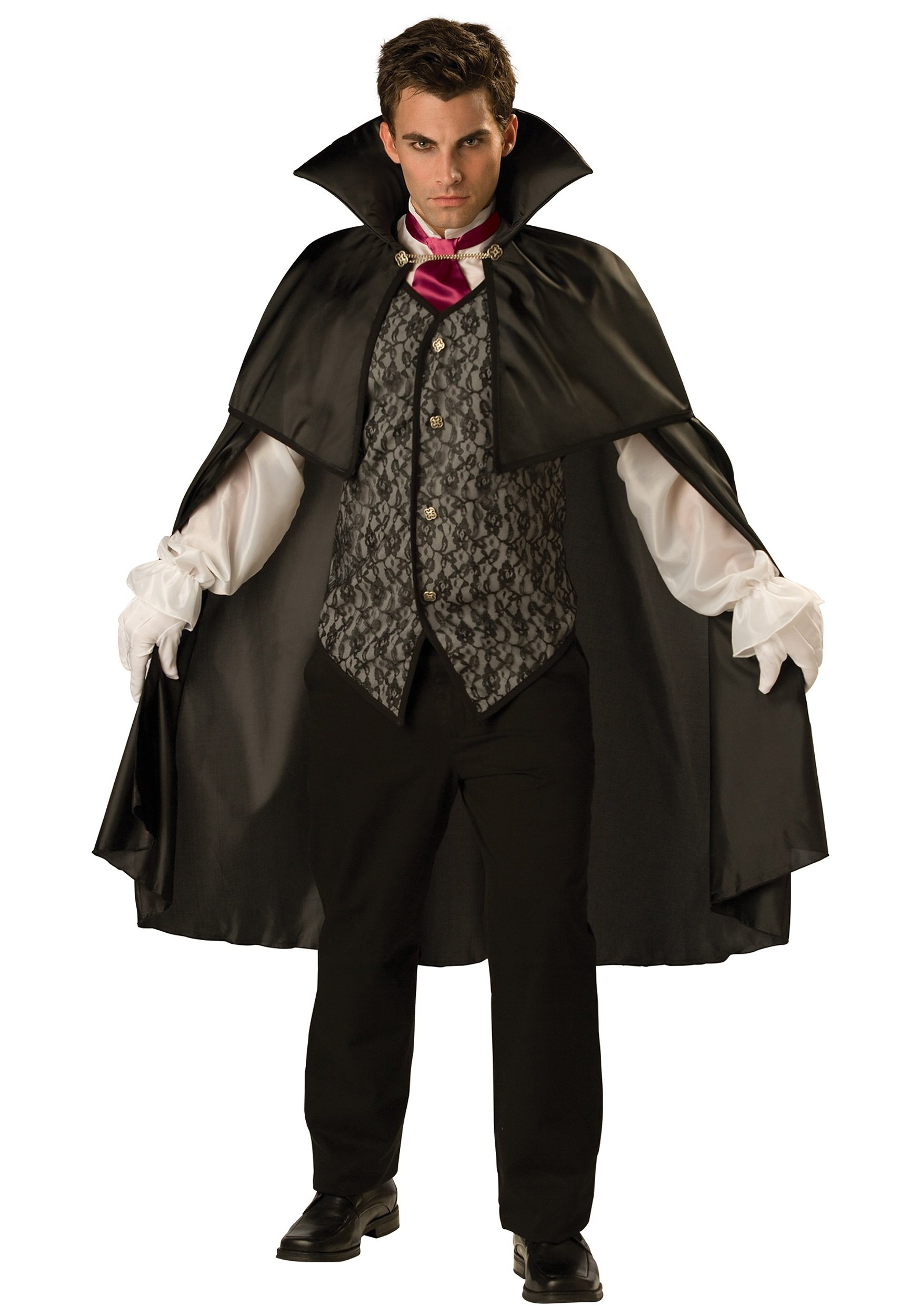 10 Ideal Scary Costume Ideas For Men mens classic midnight vamp costume mens scary costume ideas 2020