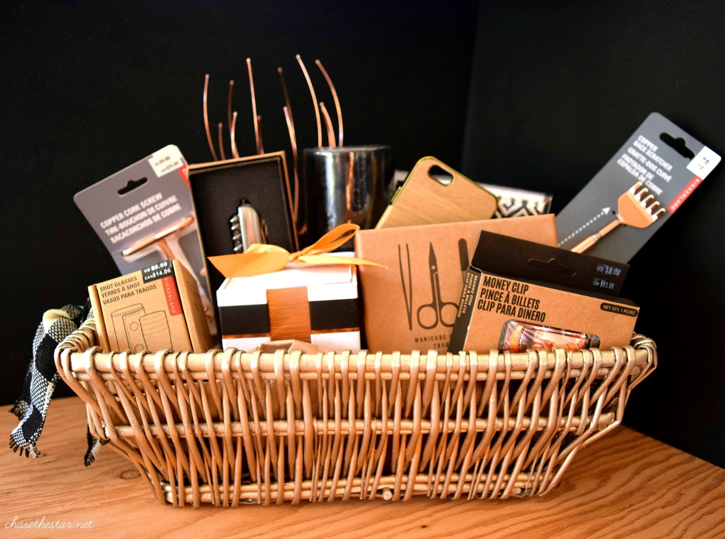 10 Attractive Gift Basket Ideas For Men mens gift basket michaelsmakers madewithmichaels gift baskets 2020