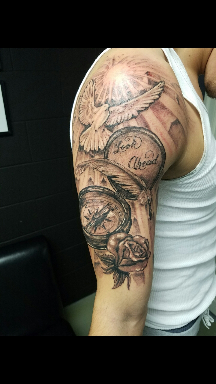 men's half sleeve tattoo | tats | pinterest | tattoo, tatting and tatoo