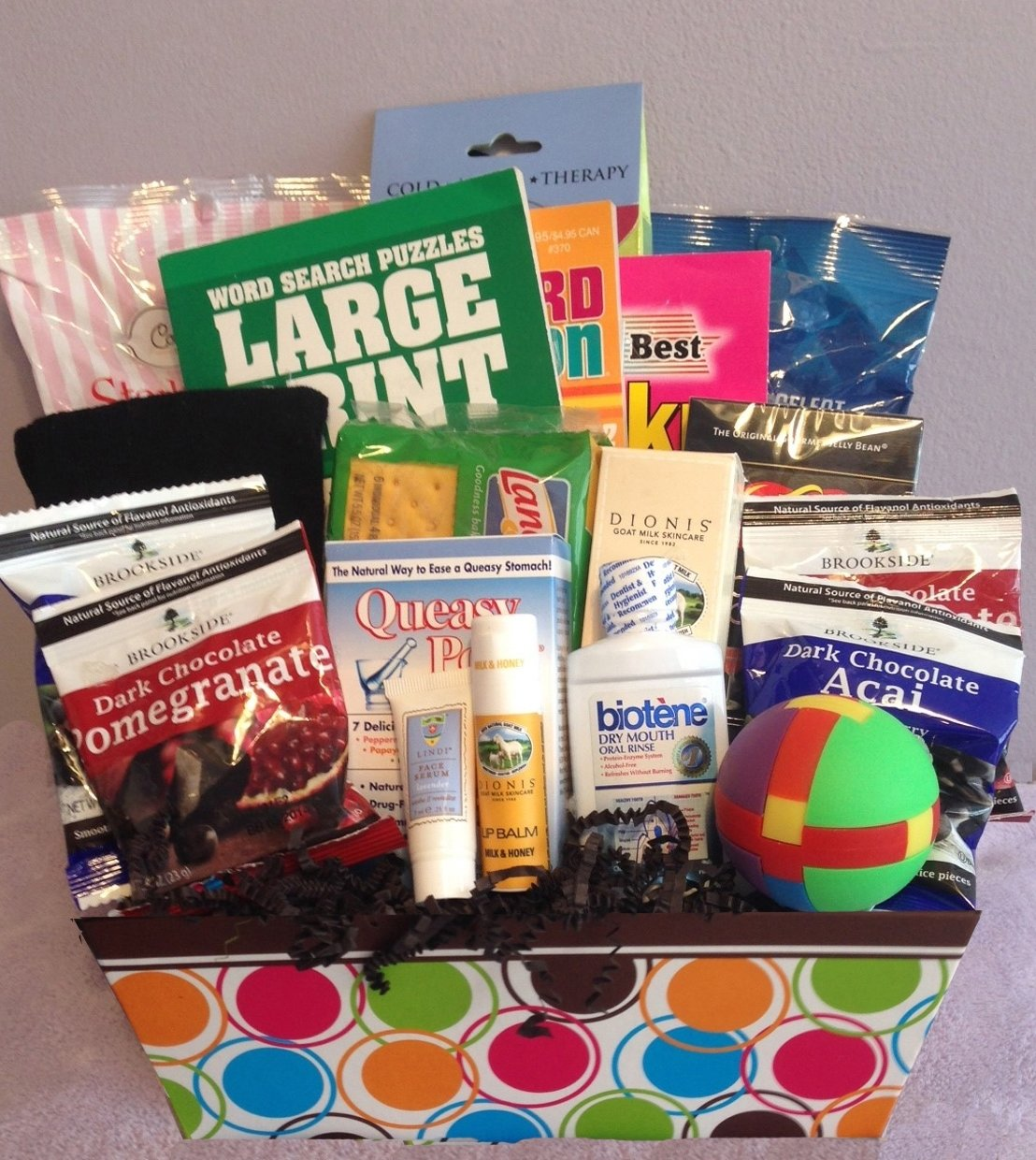 10 Great Gift Ideas For Cancer Patients mens medium chemo basket chemo care gift and cancer care package 2020