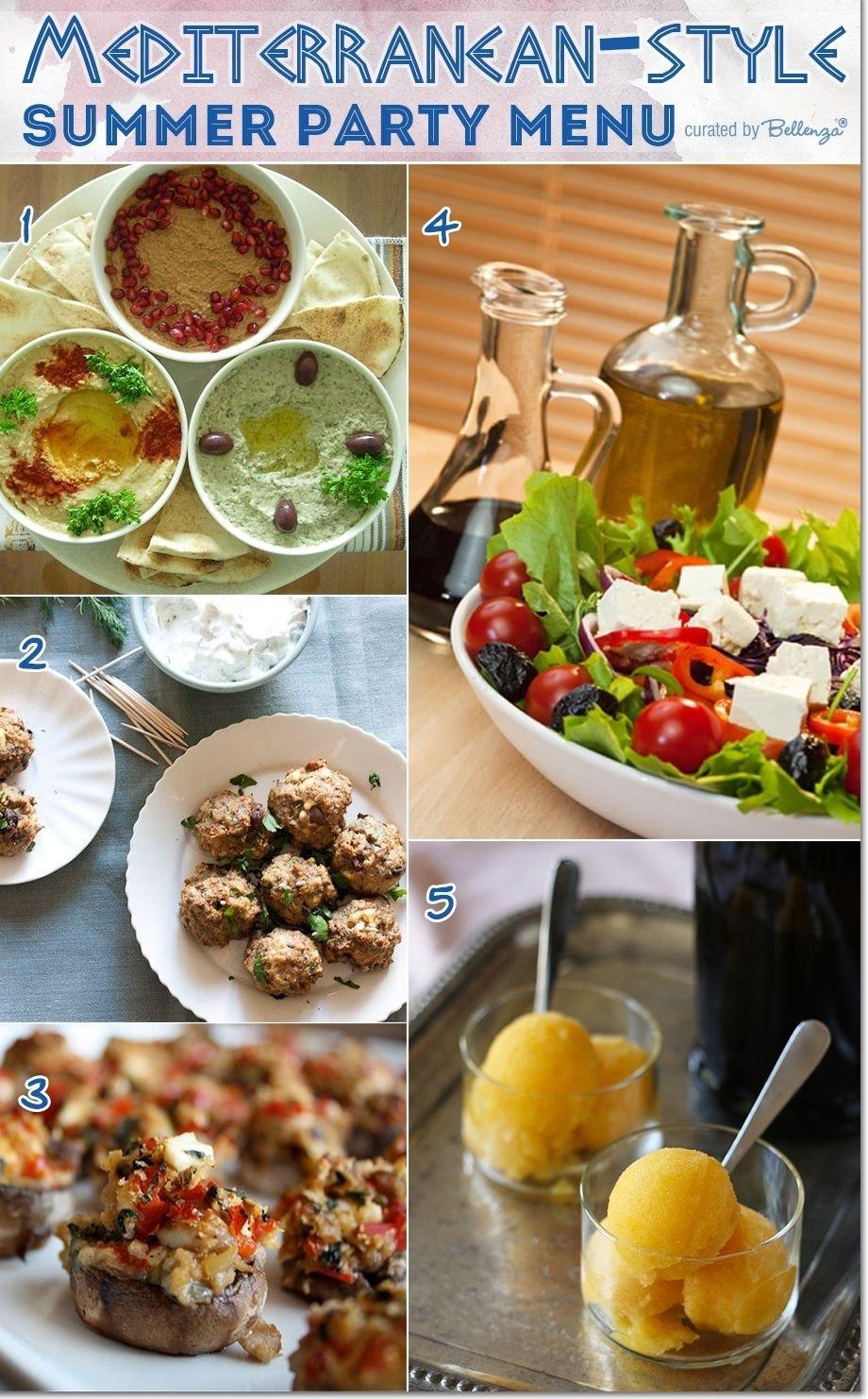 menu ideas for hosting a mediterranean-style summer party! | summer