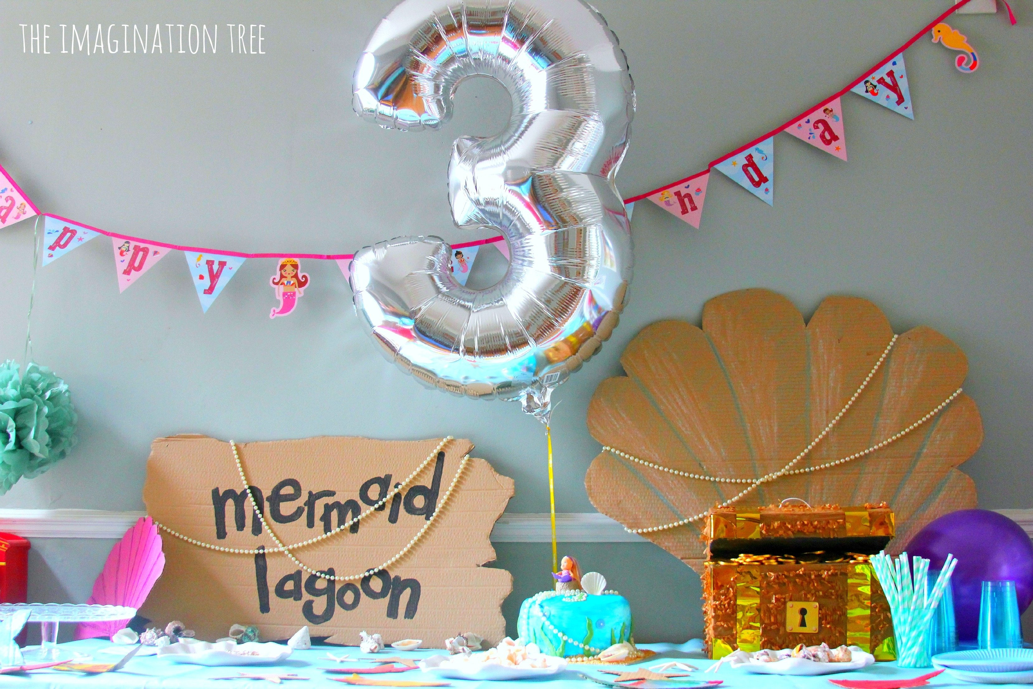 10 Cute Kids Birthday Party Ideas At Home Mermaid The Imagination Tree 5