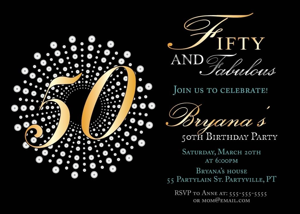 10 Best 50Th Birthday Party Invitations Ideas mesmerizing 50th birthday invitation ideas to make how to make a 2020