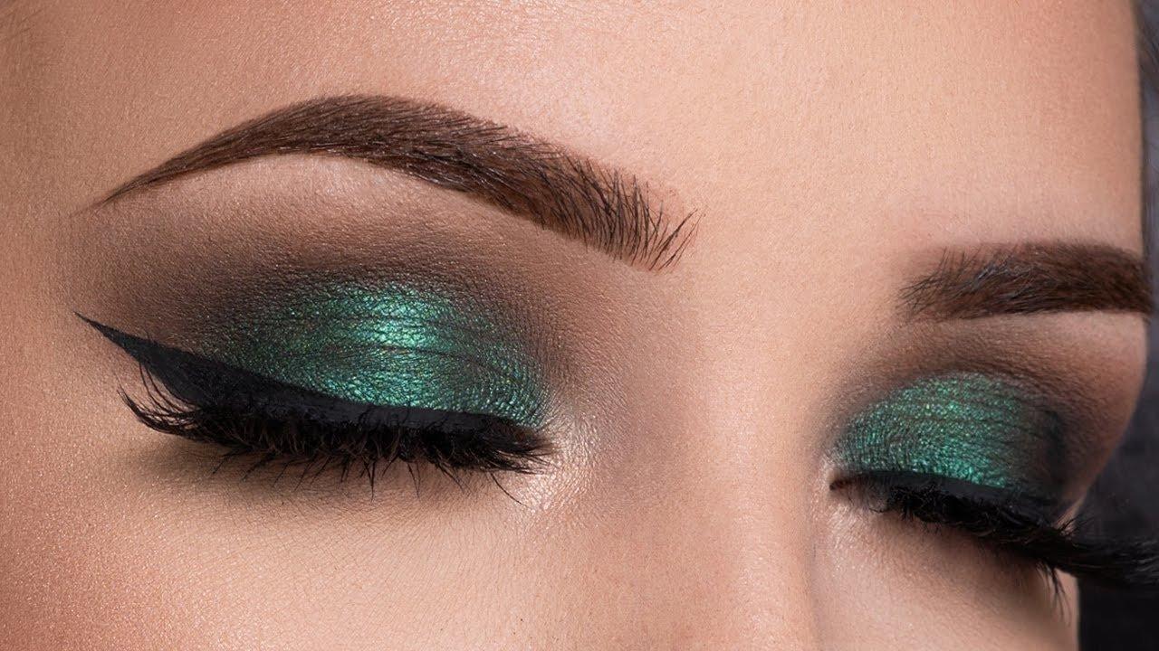 10 Nice Eyeshadow Ideas For Green Eyes metallic green smokey eyes makeup tutorial youtube 1