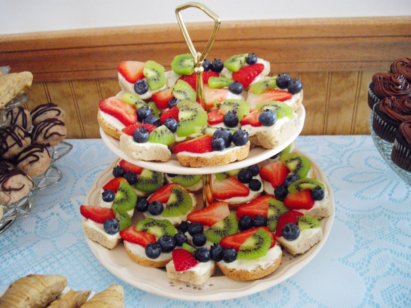 10 Most Recommended Bridal Shower Finger Food Ideas mexican wedding fruit pizza and a bridal shower cooking ala mel 1 2021