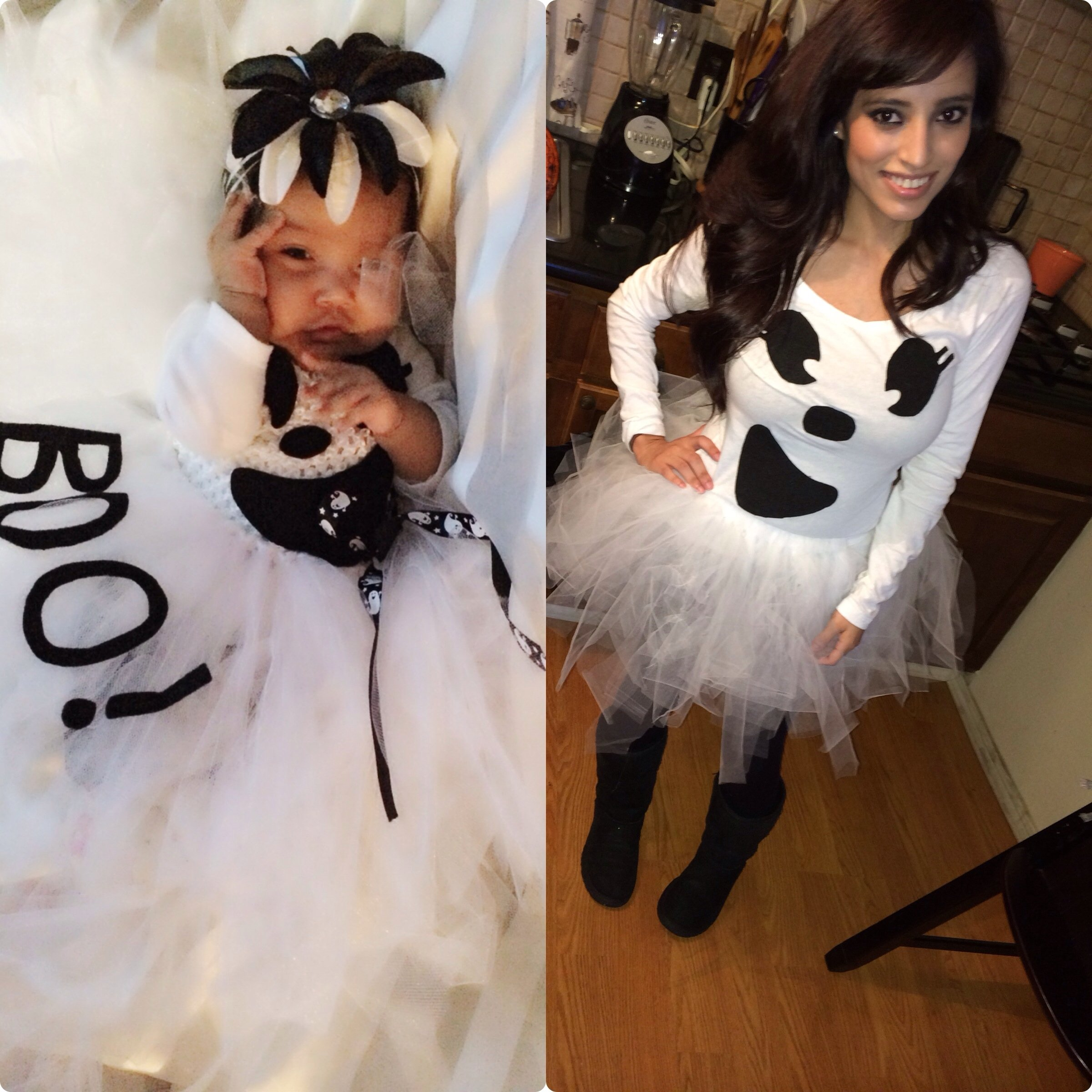 mia and i ☺ mother && daughter matching halloween costumes