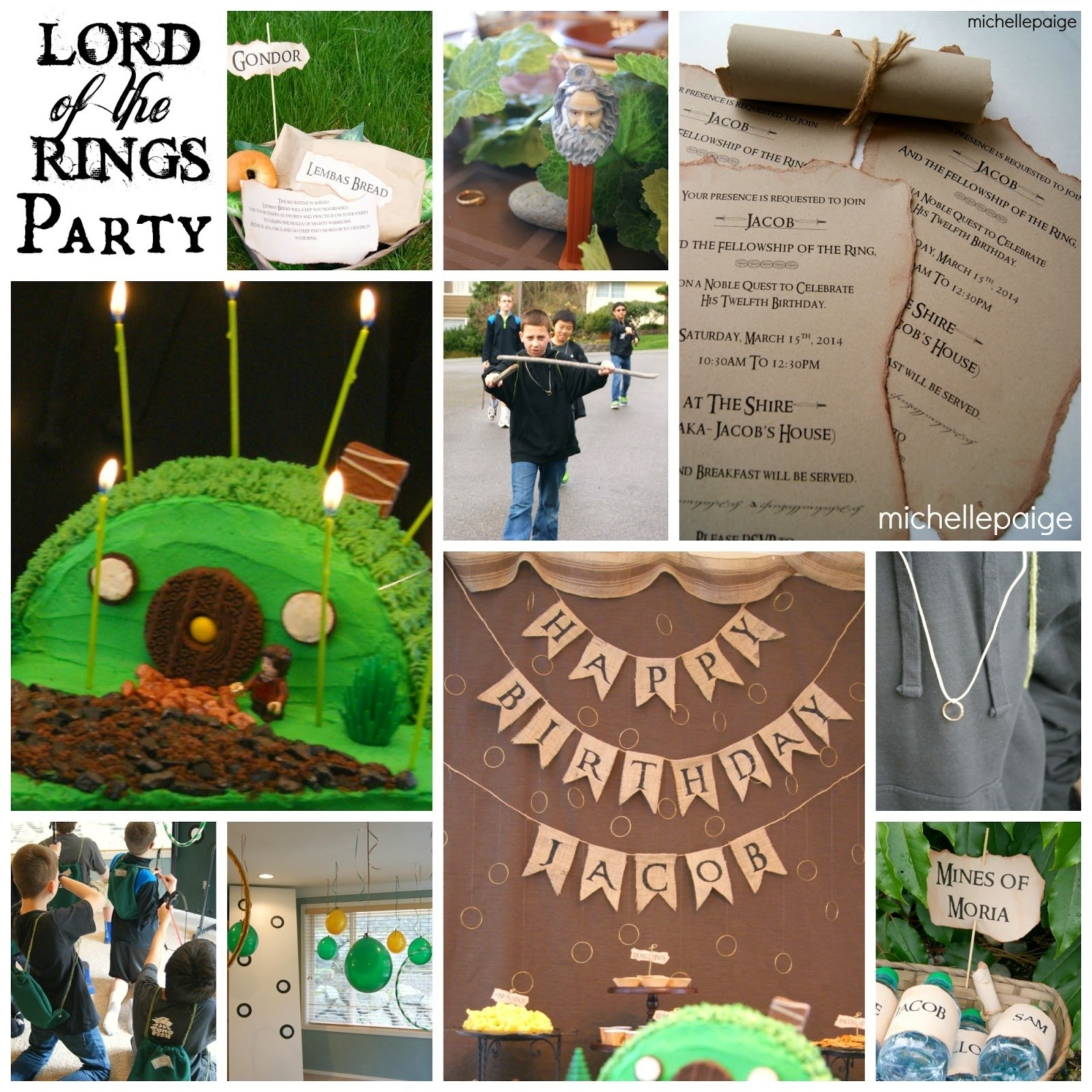 10 Pretty Lord Of The Rings Party Ideas michelle paige blogs lord of the rings birthday party 1 2020